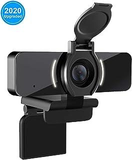 comprar comparacion LarmTek Cámara Web 1080P con micrófono y Cubierta de privacidad, cámara Web USB, cámara Web de transmisión HD para Ordenad...