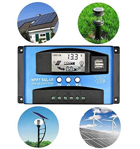 40-100A MPPT Solar Panel Regulator Charge Controller 12V//24V Auto Focus Tracking
