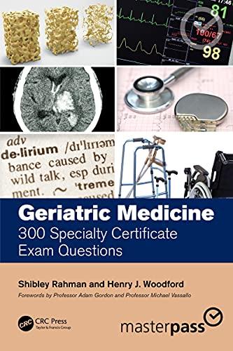 Geriatric Medicine: 300 Specialty Certificate Exam Questions (MasterPass) (English Edition)