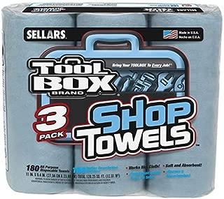 Sellars Wipers & Sorbents Tool 3PK BLU Shop Towel