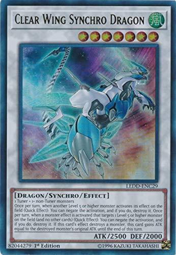Yugioh 1st Ed Clear Wing Synchro Dragon LEDD-ENC29 Ultra Rare 1st Edition Legendary Dragon Decks