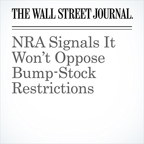NRA Signals It Won't Oppose Bump-Stock Restrictions copertina