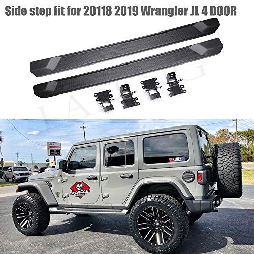 Se adapta a estribos laterales Wrangler JL de 4 puertas de 2018...
