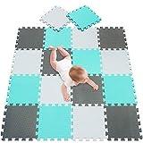 meiqicool Tapis de Jeu Puzzle Mousse Souple 18 Mousse,Tapis de Jeux et d'éveil,Tapis de Puzzles 010812