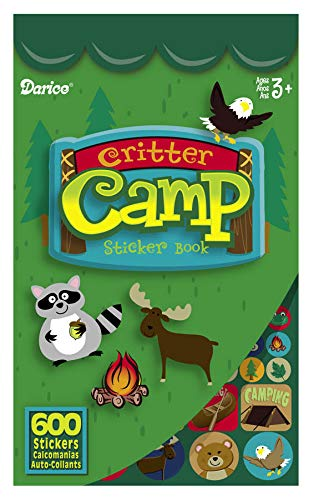 Darice Critter Camp Sticker Book for Kids - 600 Stickers for Camping Crafts,...