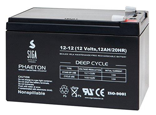 Blei Akku 12V 12Ah 12 V 10 Ah AGM Gel Batterie extrem zyklenfest