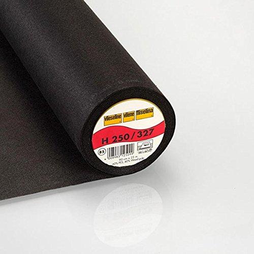 Fabulous Fabrics Vlieseinlage anthrazit, 90cm breit – zum Aufbügeln auf Jacken, Kleidern oder Oberteilen - Meterware erhältlich ab 0,5 m
