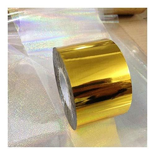 SSGLOVELIN 1 Rouleau 4cm * 120m Holographic Starry Sky Nail Foil Ruban Nail Art Or Argent Transfert Autocollant Nail Art Outils de décoration Roman et Beau (Color : Gold)
