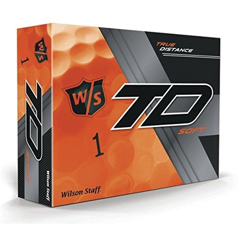 Wilson Staff True Distance Soft Orange Golfbälle, 1 Dutzend, 12 Bälle, Herren