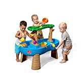Step2 Tropical Rainforest Water Table | Colorful Kids Water Play Table with 13-Pc Accessory Set, Green & Blu