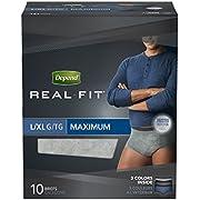 Depend Real Fit Underwear for Men Maximum Absorbency