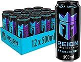 REIGN Razzle Berry, 12x500 ml, Einweg-Dose, Performance Energy Drink mit BCAA, L-Arginin, B-Vitaminen und natürlichem Koffein