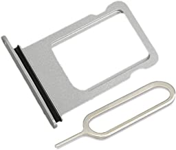 LIBAI-V Waterproof Sim Card Tray Replacement for iPhone 7 with Sim Ejector + Cloth (Silver)