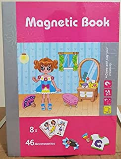 Magnetic Book | Pattern Matching Jigsaw Puzzle Set | Brain Development Early Education Imagination Play | Book Shaped Trav...