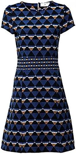 RICK CARDONA Robe Jacquard Jacquard Genou Longueur Graphique-Look Femmes Bleu par Heine