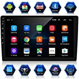 ANKEWAY Android 9.1 Autoradio 2 DIN 10,1 Pollici 1080P HD GPS Navigation Touch Screen Autoradio Bluetooth/WiFi, 1G/16G Multimedia Car Radio+WiFi Tethering Internet+Telecamera di Retromarcia