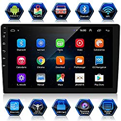 powerful ANKEWAY 10.1 inch Android 9.1 car radio (with HiFi / WiFi / GPS / RDS / FM / Bluetooth), new 2021 double din …