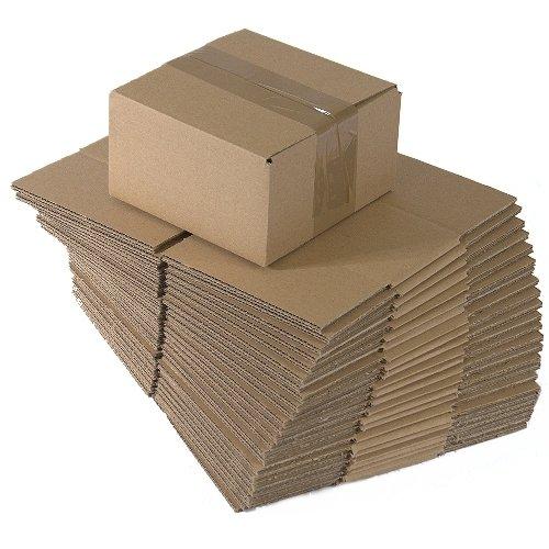 Faltkartons, 150 x 150 x 80 mm, 100 Stück | Kleine Kartons aus Wellpappe | Ideal für den Paketversand