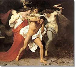 Orestes Pursued by the Furies by William Bouguereau Hand Made Reproduction oil on Canvas