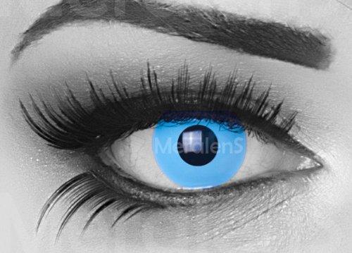 Sky Angel Farbige Funnylens Crazy Fun Hellblau Kontaktlinsen perfekt zu Fasching, Karneval Halloween Anime Manga oder zum Alltag mit gratis Behälter und 60ml Pflegemittel Topqualität zu jedem Event geeignet.