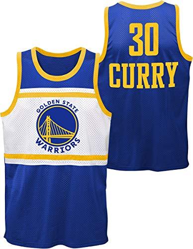 NBA Golden State Warriors - Stephen Curry Hombre Top Tirante Ancho Azul M, 100% poliéster, Regular