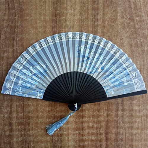WANGYUJIN Faltfächer Klassische Faltfächer Sommer Damen Chinesische Fankunstfächer Hanfu Cheongsam Und Fächer Antike Faltfächer Hellblauer Duft