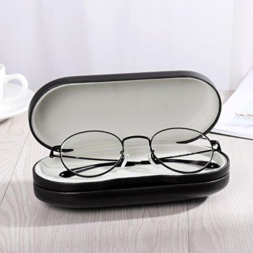 ROSENICE『コンタクトレンズケース近視眼鏡ボックス2in1鏡ピンセット付き(ブラック)』