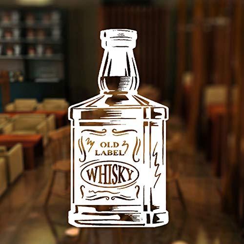 Bar Alkohol Restaurant Whisky Tequila Weinflasche Fenster Aufkleber Vinyl Dekoration Flugzeug Wandtattoos Removable 29 * 57 cm