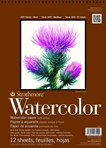 Strathmore 440-1 Strath W.Color 400 9X1212SHT 130 lbspirl
