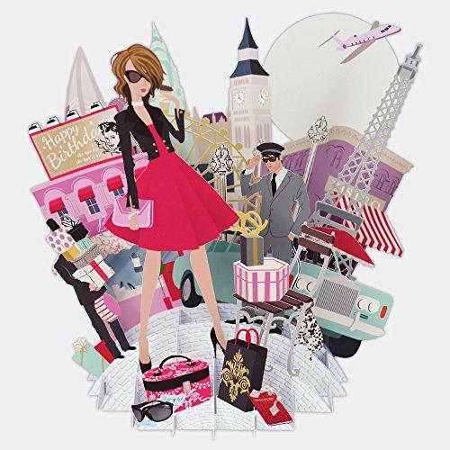 Paper D'Art Top of the World Pop-Up-Grußkarte