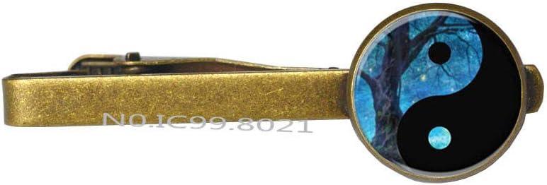 Yin Yang Tie Clip, Yin Yang Charm Tie Pin, Ying Yang Tie Clip -RG65