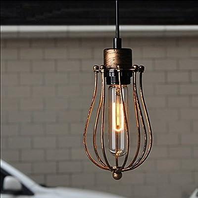 WINSOON Modern Style Metal Lamp Wall Lamp Vintage Loft Pendant Light Retro Cage Design