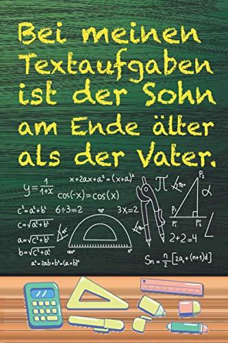 Bei meinen Textaufgaben: XXL MATHE NOTIZBUCH 6:9 - 150 karierte Seiten - für Mathematik Übungsaufgaben, Notizen, Nebenrechnungen, Skizzen, ... - Ideal für Schüler, Studenten & Lehrer