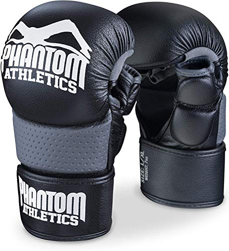 Phantom Herren Gloves-PHMMAG00574-S-S/M Athletics MMA Sparring Gloves riot-Phmmag00574-s-s/m, Black, S/M