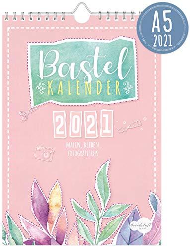 A5+ Bastelkalender 2021 [Aquarell] von Trendstuff by Häfft | Fotokalender, DIY-Kalender, Kreativ-Kalender, Geburtstags-Kalender zum Selbstgestalten - mach deinen Liebsten eine Freude!
