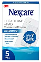Nexcare Absolute Waterproof Premium Adhesive Pads, 2.375 x 4 inches, 5-Count Boxes (Pack of 4) by Nexcare