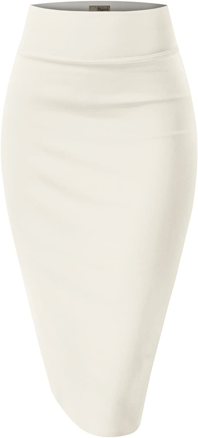 Hybrid Women's Techno/Scuba Stretchy Office Pencil Skirt Made in USA