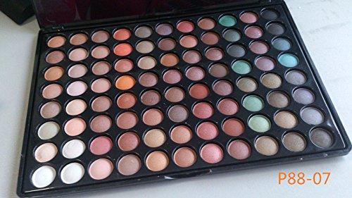 MZP 88 ombre la couleur des yeux ombre à paupières ombre à paupières palette oeil métallique coloré palette yeux ombre à paupières mat perle de couleur terre , p88-07