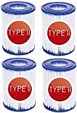 Filtro per Piscina Tipo 2,per Bestway 58094 Confezione Filtri per Pompa, Elemento filtrante Taglia II adatto al filtro della piscina per Bestway tipo II Piscina familiare indispensabile. (4 Pezzi)