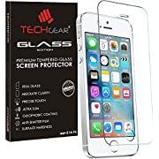 TECHGEAR GLASS Edition Genuine Tempered Glass Screen Protector Guard Cover for iPhone 5, 5s, 5c, SE