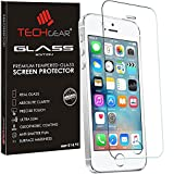 TECHGEAR GLASS Edition for iPhone SE 2016 / 5s / 5c / 5 - Genuine Tempered Glass Screen Protector Guard Cover Compatible with Apple iPhone SE 2016 / 5s / 5c / 5