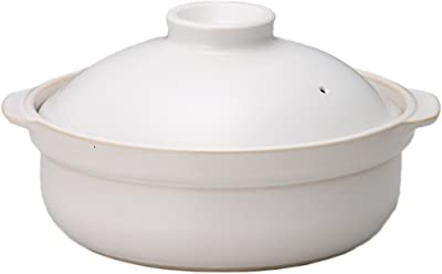 国産IH対応土鍋6号1人用ホワイト/ホワイト AM-980056