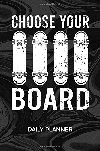 DAILY PLANNER WEEKLY CALENDAR: Skateboarder Organizer UNDATED - 120 Pages 52 Weeks Monday to Sunday - Punk Rock Notebook Journal Skateboarding - Skateboard To-Do List for Skater & Skateboard Lover