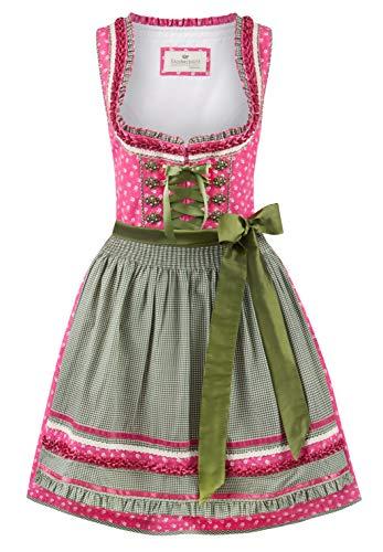 Stockerpoint Damen Dirndl Martina Kleid für besondere Anlässe, pink-grün, 42
