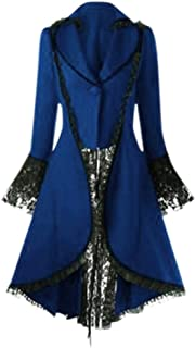 Vintage Womens Steampunk Victorian Swallow Tail Long Trench Coat Jacket Thin Outwear