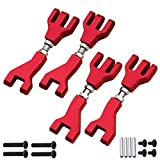 Hobbypark Aluminum Front & Rear Upper Suspension Arms for 1/10 Redcat Blackout XTE Upgrades Parts, fit XBE SC Pro, Replace BS213-002 / BLH-0001GM (4-Pack) (Red)