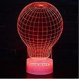 3D Acrylique Veilleuse LED De Noël USB Ampoule Forme Lampe Atmosphère Lampe De...