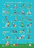 ABC-Yoga für Kinder von Enchanted Wonders,A2-Poster (evtl. nicht in deutscher Sprache)