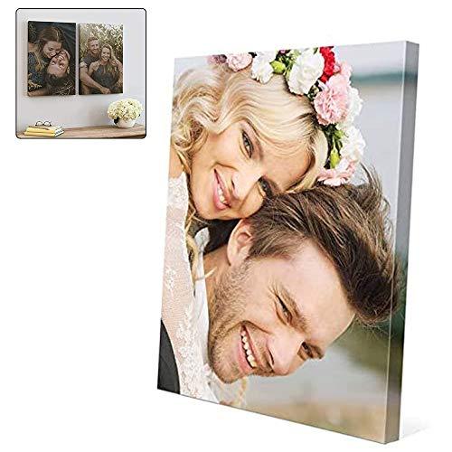 Waczecr Acryl Glas mit Foto Bedrucken - Acrylglas Personalisieren - Foto-Aufsteller mit eigenem Motiv selbst gestalten (Vertikale Richtung, 30 * 30cm)