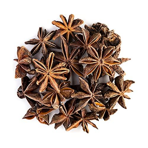 Sternanis Samen Biologischer Anbau Gewürz – Anisstern Spitzenqualität – Illicium Verum Sternanissamen - Star Anise Tee - Anissterne 200g